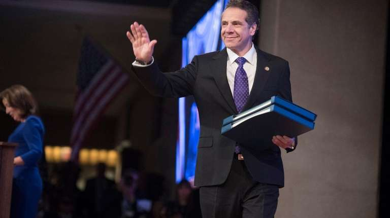 New York State Governor Andrew Cuomo being introduced