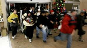Shoppers run into a Walmart in New Jersey