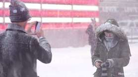 People in Manhattan braved the snowstorm that consumed