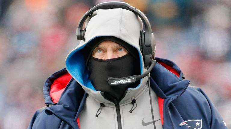 Patriots head coach Bill Belichick against the Jets