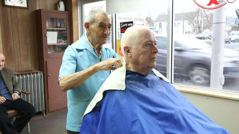 Newsday spent the day with barber Dominick Natale,