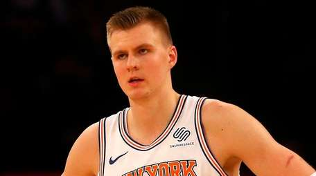 Kristaps Porzingis of the New York Knicks at