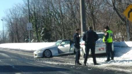 Police respond to crash scene on Southern State