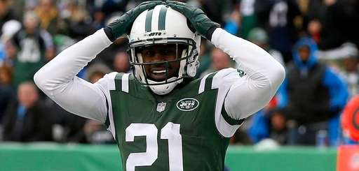 Veteran cornerback Morris Claiborne, reacting after a penalty