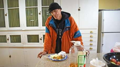 Bobby Bloomfield, 68, had a warm meal at