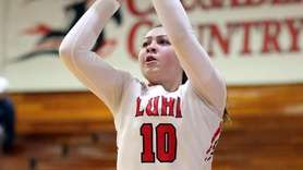 Long Island Lutheran's Grace Stone shoots against Franklin
