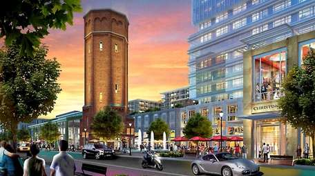 Artist rendering of the public area with tower