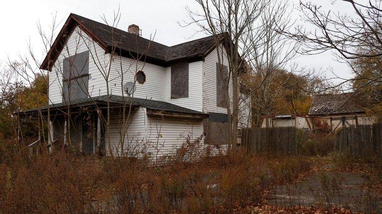 The 19th century Eastport farmhouse on Montauk Highway,