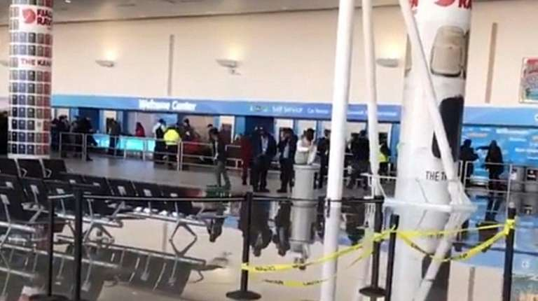 Kennedy Airport announced that a terminal had been