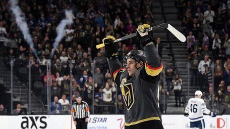 Erik Haula #56 of the Vegas Golden Knights