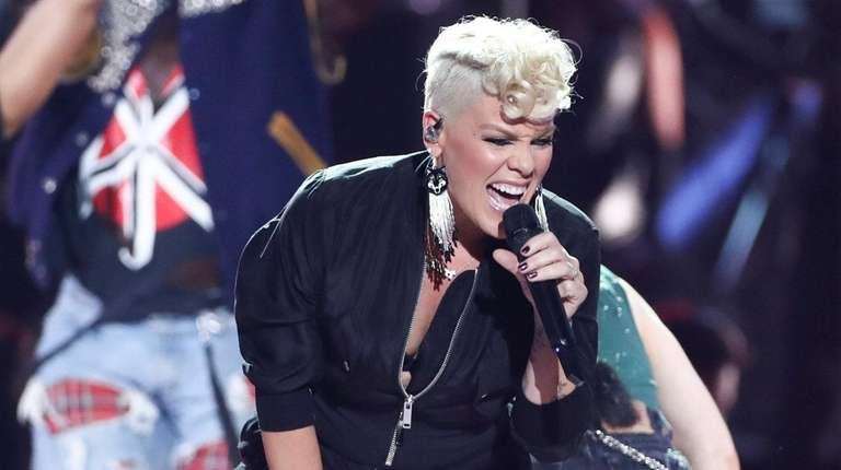 Pink performs at the 2017 iHeartRadio Music Festival