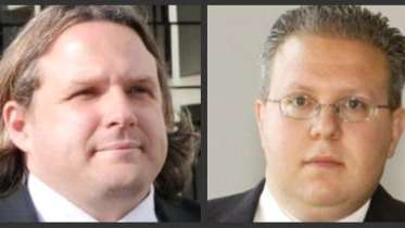 Lawyers Brandon Lisi, left, and Dustin Dente face