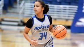 Hofstra's Boogie Brozoski at practice on Oct. 27,