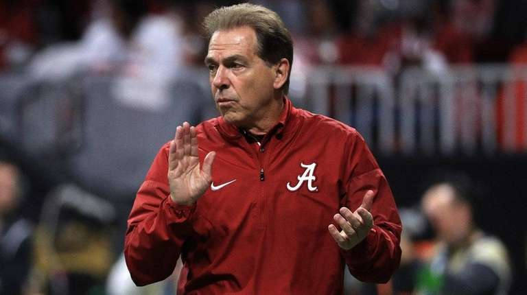 Alabama's Nick Saban won't be coaching Giants