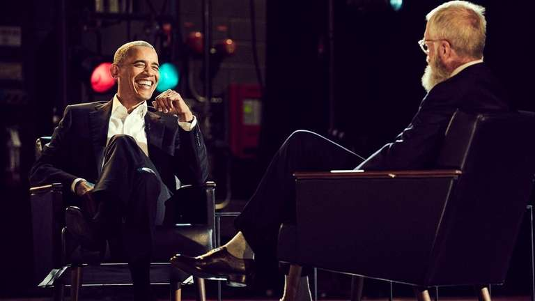David Letterman interviews former President Barack Obama on