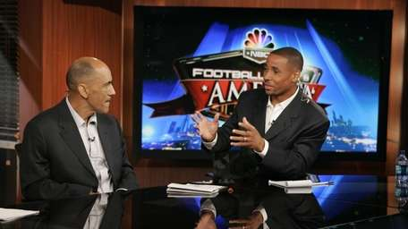 Former Patriots safety Rodney Harrison, now an analyst