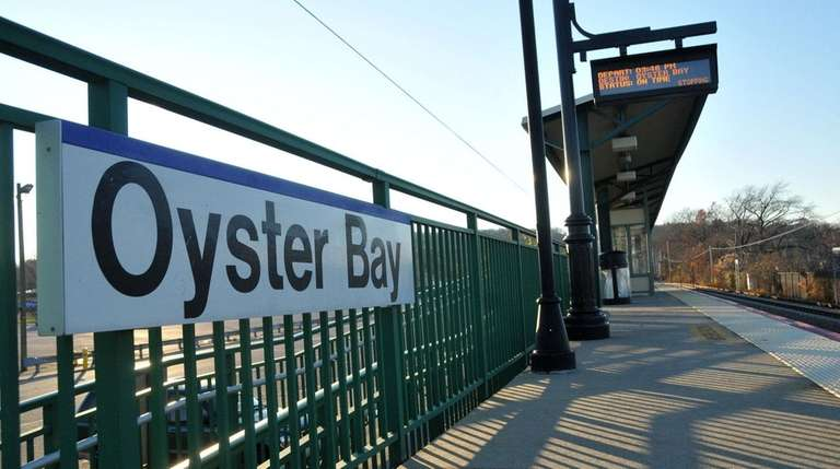 The Oyster Bay LIRR station on Nov. 24,