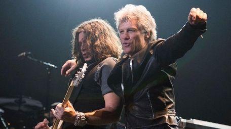 From left, Bon Jovi's Phil X and Jon