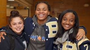 Baldwin's Jenna Annecchiarico, Donnetta Johnson and Aziah Hudson