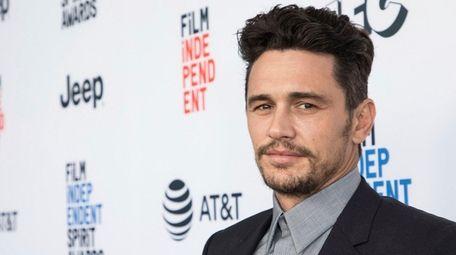 James Franco arrives at the Film Independent Spirit