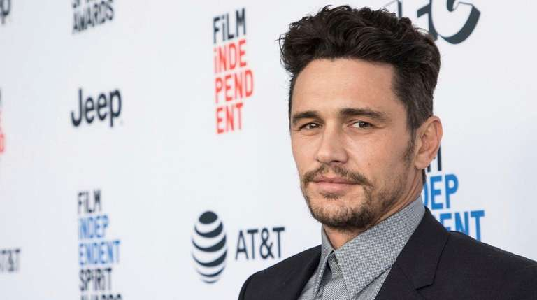 James Franco arrives at the Film Independent Spirit