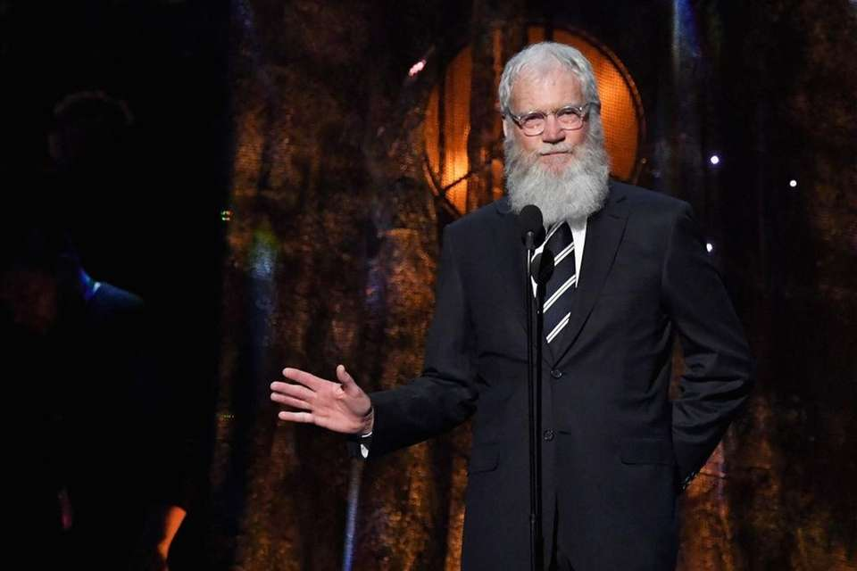 David Letterman speaks at the 32nd Annual Rock