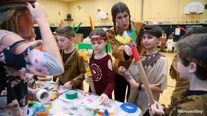 Fourth-graders at Forest Lake School in Wantagh, on