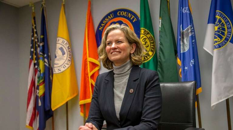 Nassau County Executive Laura Curran in her office