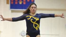 Gillian Murphy of Massapequa performs on the balance
