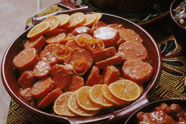 Candied yams, part of a traditional Kwanzaa feast.