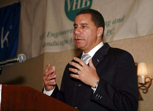 FILE - Gov. David Paterson speaking at the