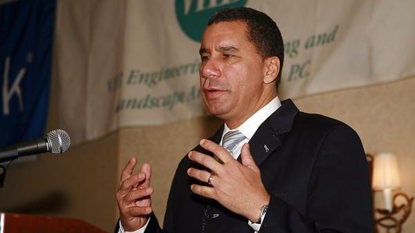 FILE - Gov. David Paterson speaking at the