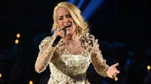 Carrie Underwood performs during the 51st annual CMA