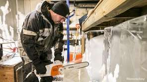 Newsday spent the day with ice carver Richard