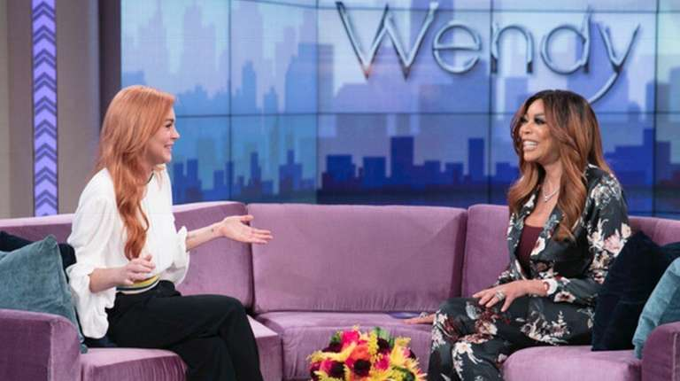 Lindsay Lohan and talk show host Wendy Williams