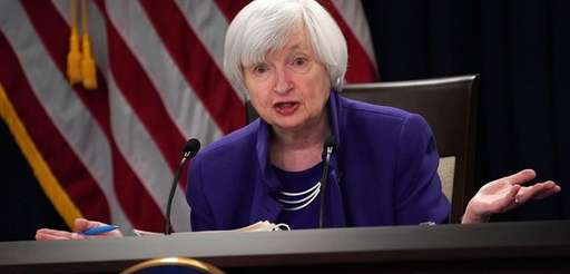 Outgoing Federal Reserve Chair Janet Yellen has suggested