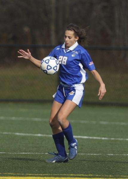 Amanda Martinez of West Islip prepares to send