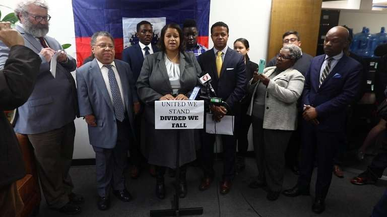 Community lawmakers and groups in Hempstead held a