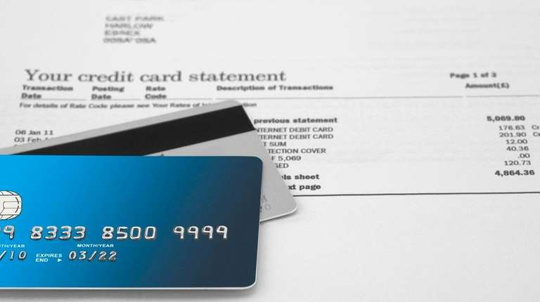 Credit Cards on Bank Statements.