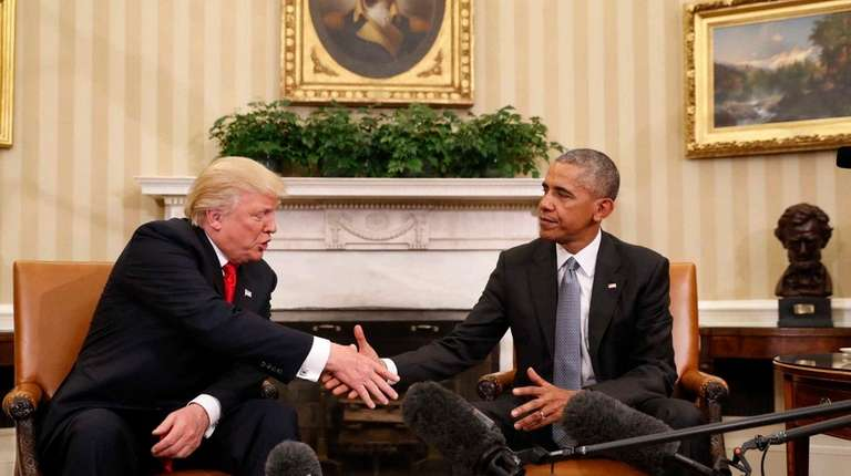 President-elect Donald Trump meets with President Barack Obama