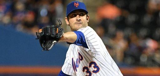Mets starting pitcher Matt Harvey delivers against the