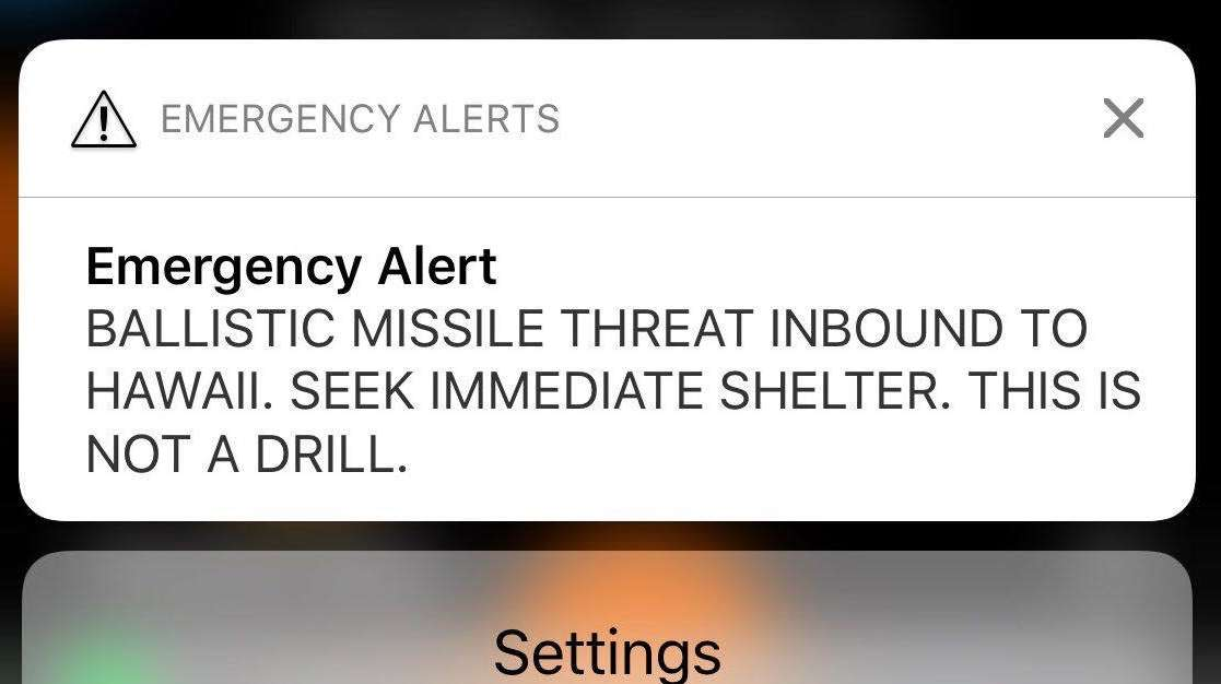 An alert caused a panic when it went