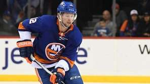 Islanders right wing Josh Bailey skates with the