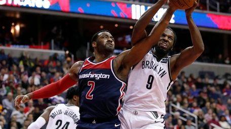 Wizards guard John Wall and Nets forward DeMarre