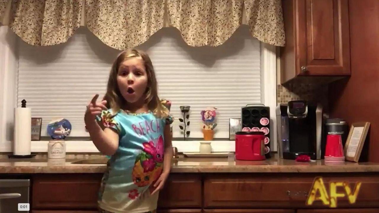 A video clip of Lia Valenti, 6, of