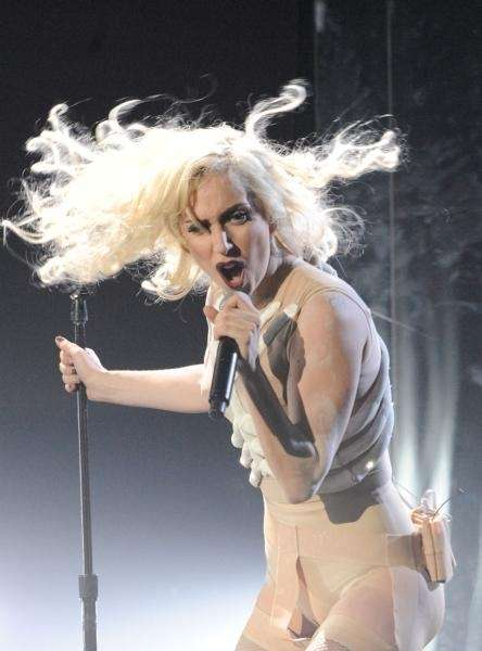 Singer/musician Lady Gaga performs onstage at the 2009