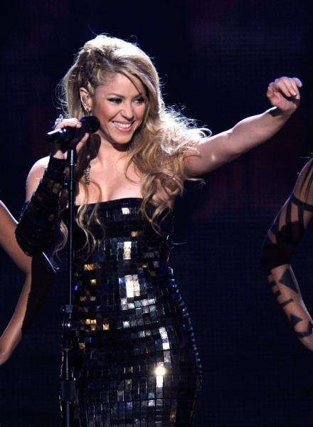 Singer Shakira performs onstage at the 2009 American