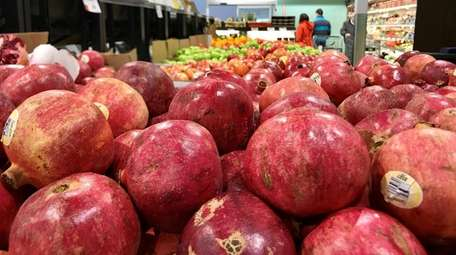 Pomegranates are among the fruits sold in the