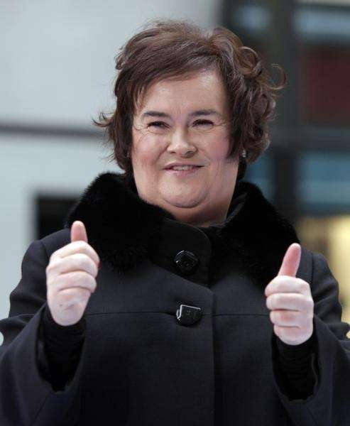 Singer Susan Boyle on the NBC's