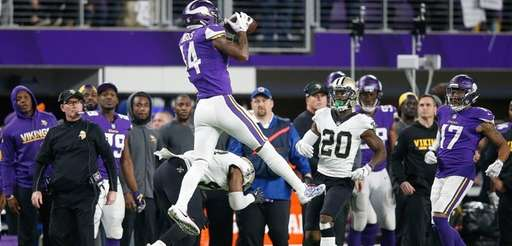 Stefon Diggs of the Minnesota Vikings makes a